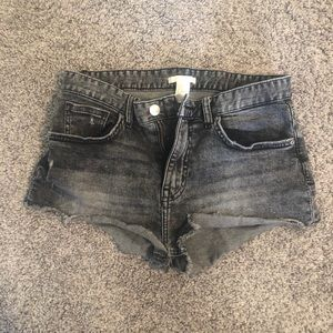 H&M black denim cut offs size 4